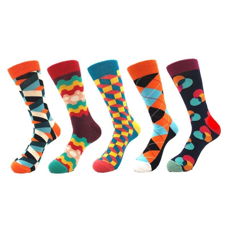 Men's Cotton Happy Funny Socks