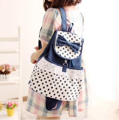 Women's Kawaii Canvas Backpack