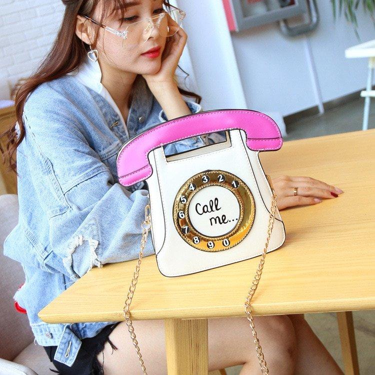 Women's Kawaii Telephone Shaped Bag